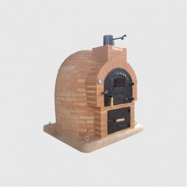 Oven with brick stove